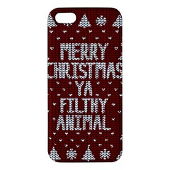 Ugly Christmas Sweater Iphone 5s/ Se Premium Hardshell Case by Valentinaart