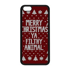 Ugly Christmas Sweater Apple Iphone 5c Seamless Case (black) by Valentinaart