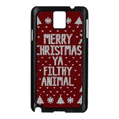 Ugly Christmas Sweater Samsung Galaxy Note 3 N9005 Case (black) by Valentinaart