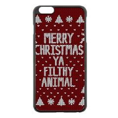 Ugly Christmas Sweater Apple Iphone 6 Plus/6s Plus Black Enamel Case by Valentinaart