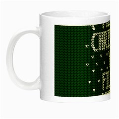 Ugly Christmas Sweater Night Luminous Mugs by Valentinaart