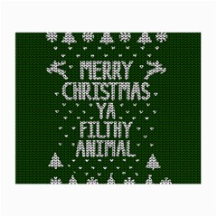 Ugly Christmas Sweater Small Glasses Cloth (2 Side) by Valentinaart