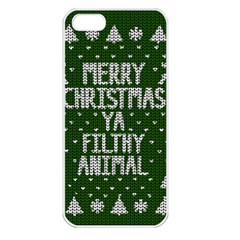 Ugly Christmas Sweater Apple Iphone 5 Seamless Case (white) by Valentinaart