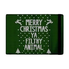 Ugly Christmas Sweater Apple Ipad Mini Flip Case by Valentinaart