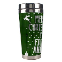 Ugly Christmas Sweater Stainless Steel Travel Tumblers by Valentinaart