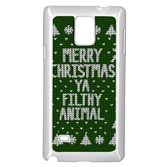 Ugly Christmas Sweater Samsung Galaxy Note 4 Case (white) by Valentinaart