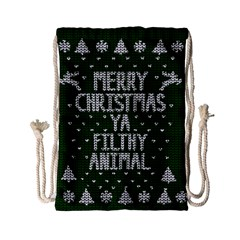 Ugly Christmas Sweater Drawstring Bag (small) by Valentinaart