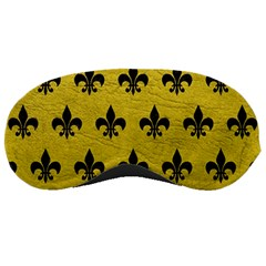 Royal1 Black Marble & Yellow Leather (r) Sleeping Masks by trendistuff