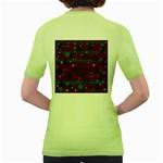 Ugly Christmas Sweater Women s Green T-Shirt Back