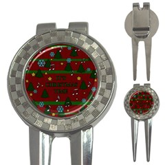 Ugly Christmas Sweater 3 In 1 Golf Divots by Valentinaart