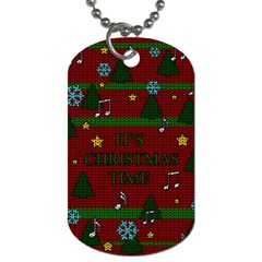 Ugly Christmas Sweater Dog Tag (two Sides) by Valentinaart