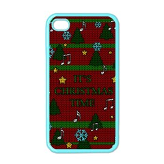 Ugly Christmas Sweater Apple Iphone 4 Case (color) by Valentinaart