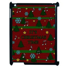 Ugly Christmas Sweater Apple Ipad 2 Case (black) by Valentinaart