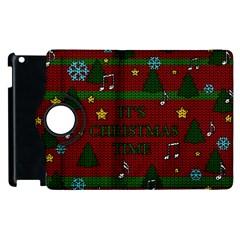 Ugly Christmas Sweater Apple Ipad 2 Flip 360 Case by Valentinaart