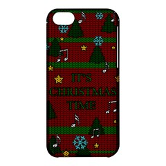 Ugly Christmas Sweater Apple Iphone 5c Hardshell Case by Valentinaart
