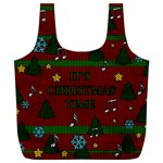 Ugly Christmas Sweater Full Print Recycle Bags (L)  Back