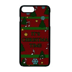 Ugly Christmas Sweater Apple Iphone 7 Plus Seamless Case (black) by Valentinaart