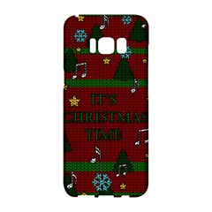 Ugly Christmas Sweater Samsung Galaxy S8 Hardshell Case  by Valentinaart