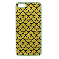 Scales1 Black Marble & Yellow Leather Apple Seamless Iphone 5 Case (color)
