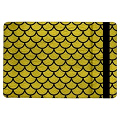 Scales1 Black Marble & Yellow Leather Ipad Air Flip by trendistuff