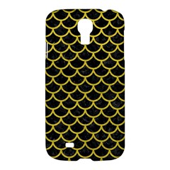 Scales1 Black Marble & Yellow Leather (r) Samsung Galaxy S4 I9500/i9505 Hardshell Case by trendistuff
