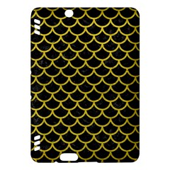 Scales1 Black Marble & Yellow Leather (r) Kindle Fire Hdx Hardshell Case by trendistuff