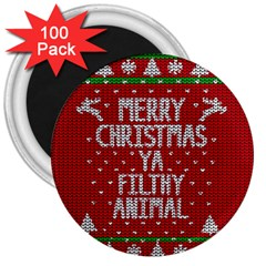 Ugly Christmas Sweater 3  Magnets (100 Pack) by Valentinaart