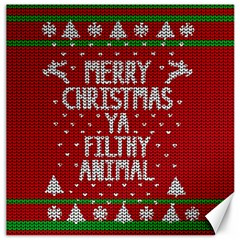 Ugly Christmas Sweater Canvas 12  X 12   by Valentinaart