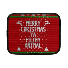 Ugly Christmas Sweater Netbook Case (small)  by Valentinaart