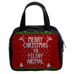 Ugly Christmas Sweater Classic Handbags (2 Sides) by Valentinaart