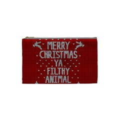 Ugly Christmas Sweater Cosmetic Bag (small)  by Valentinaart