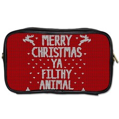 Ugly Christmas Sweater Toiletries Bags 2 Side by Valentinaart