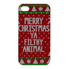 Ugly Christmas Sweater Apple Iphone 4/4s Hardshell Case by Valentinaart