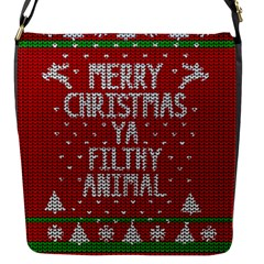 Ugly Christmas Sweater Flap Messenger Bag (s) by Valentinaart