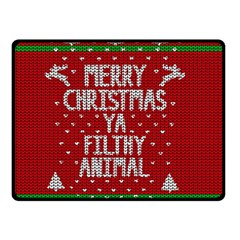 Ugly Christmas Sweater Double Sided Fleece Blanket (small)  by Valentinaart