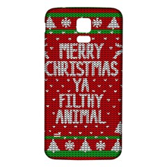 Ugly Christmas Sweater Samsung Galaxy S5 Back Case (white) by Valentinaart
