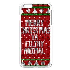Ugly Christmas Sweater Apple Iphone 6 Plus/6s Plus Enamel White Case by Valentinaart
