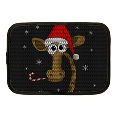 Christmas Giraffe  Netbook Case (medium)  by Valentinaart