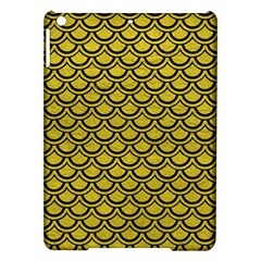 Scales2 Black Marble & Yellow Leather Ipad Air Hardshell Cases by trendistuff