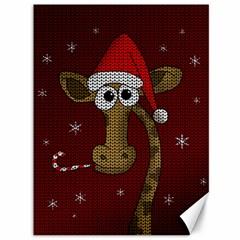 Christmas Giraffe  Canvas 36  X 48   by Valentinaart