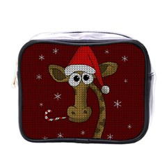 Christmas Giraffe  Mini Toiletries Bags by Valentinaart