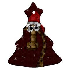 Christmas Giraffe  Ornament (christmas Tree)  by Valentinaart