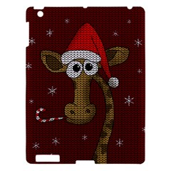 Christmas Giraffe  Apple Ipad 3/4 Hardshell Case by Valentinaart