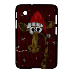 Christmas Giraffe  Samsung Galaxy Tab 2 (7 ) P3100 Hardshell Case  by Valentinaart