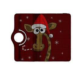 Christmas Giraffe  Kindle Fire Hdx 8 9  Flip 360 Case by Valentinaart