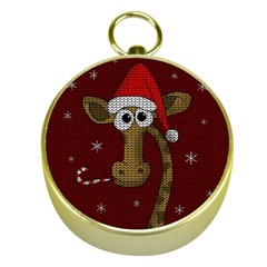 Christmas Giraffe  Gold Compasses by Valentinaart