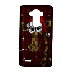 Christmas Giraffe  Lg G4 Hardshell Case by Valentinaart