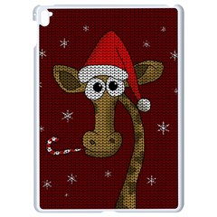Christmas Giraffe  Apple Ipad Pro 9 7   White Seamless Case by Valentinaart