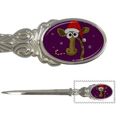 Christmas Giraffe  Letter Openers by Valentinaart