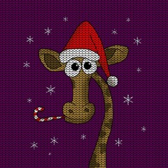 Christmas Giraffe  Magic Photo Cubes by Valentinaart